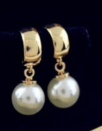18 K kullatud imitats pärl