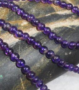 Ametüst kaelakee 4mm pärl ja 40 cm